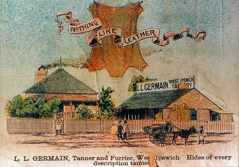 L. L. Germain, Tanner and Furrier, West Ipswich, 1895
